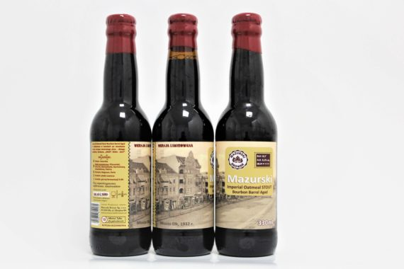 Mazurskie  Imperial  Oatmeal  STOUT Bourbon Barrel Aged / STOUT BBA